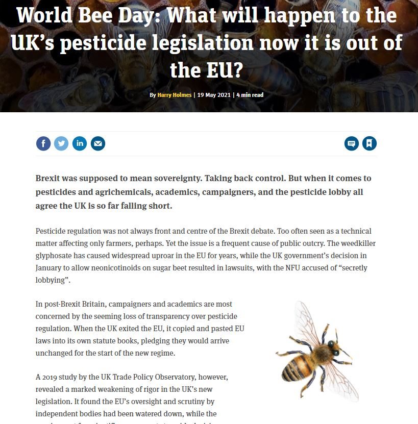The Grocer - What will happen to the UK's pesticide legislation now it is out of the EU?