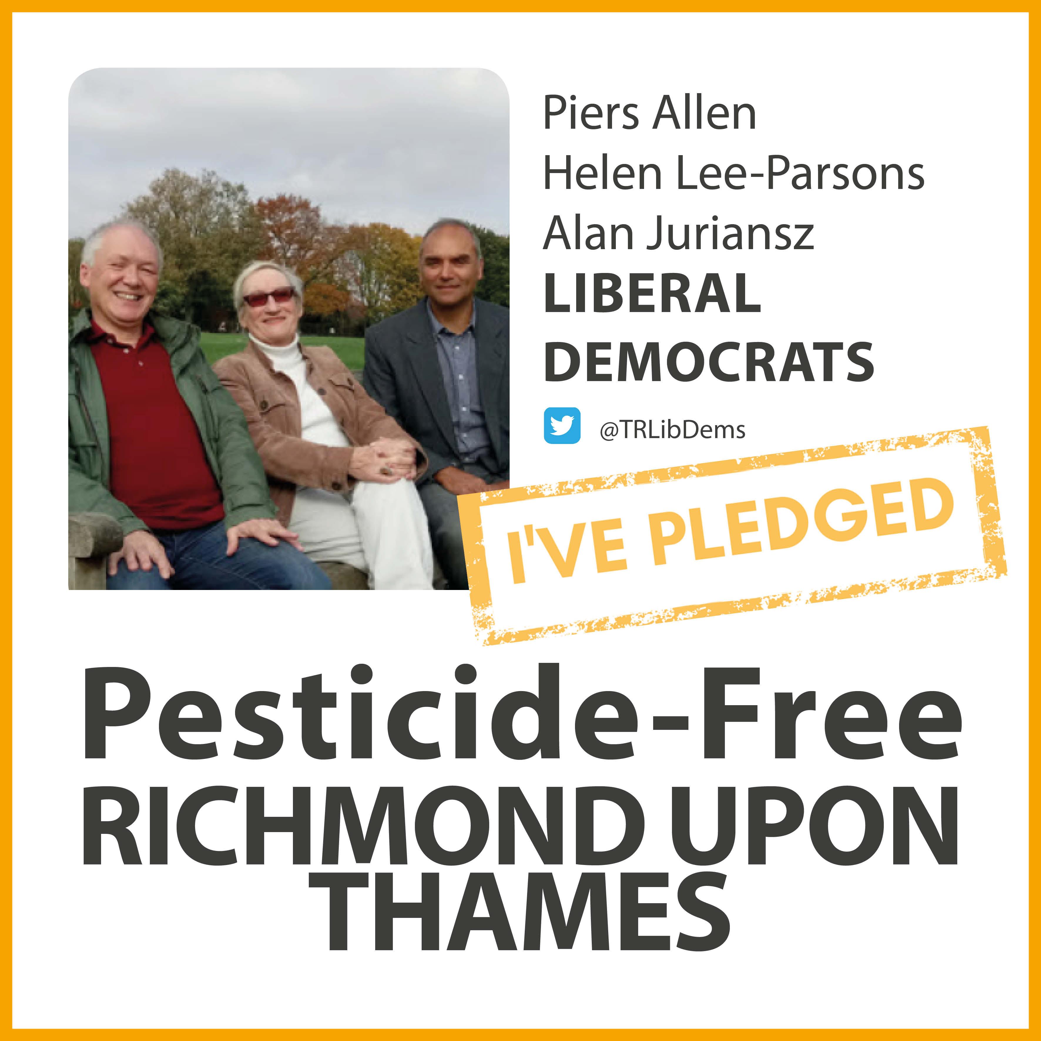 West Twickenham Lib Dems have taken the pesticide-free pledge