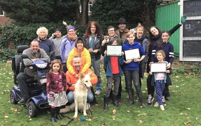 Whalley Rangers in their community garden