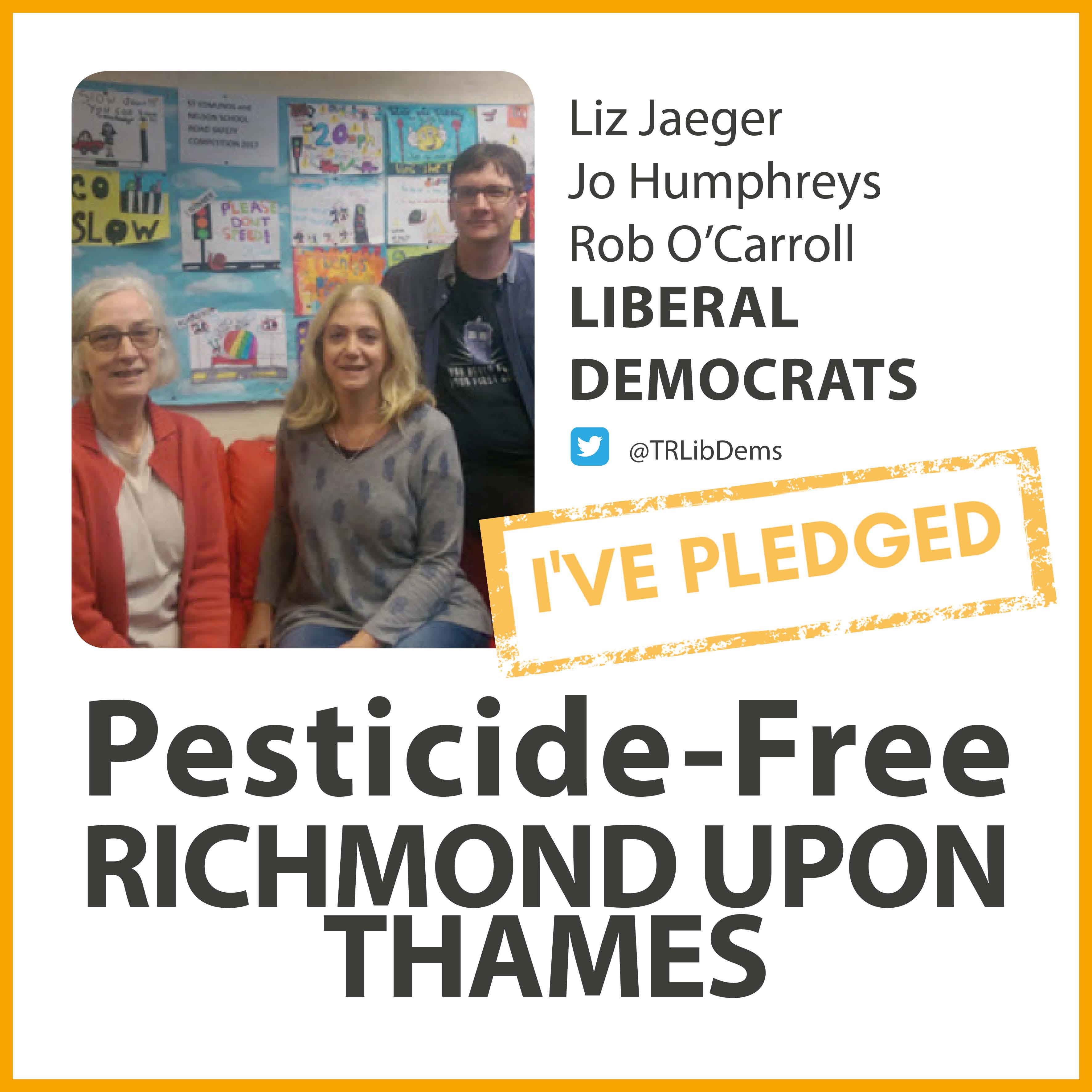 Whitton Lib Dems have taken the pesticide-free pledge