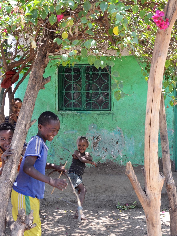 Wudinesh Koricho has a large family in Shelle Mella, Ethiopia