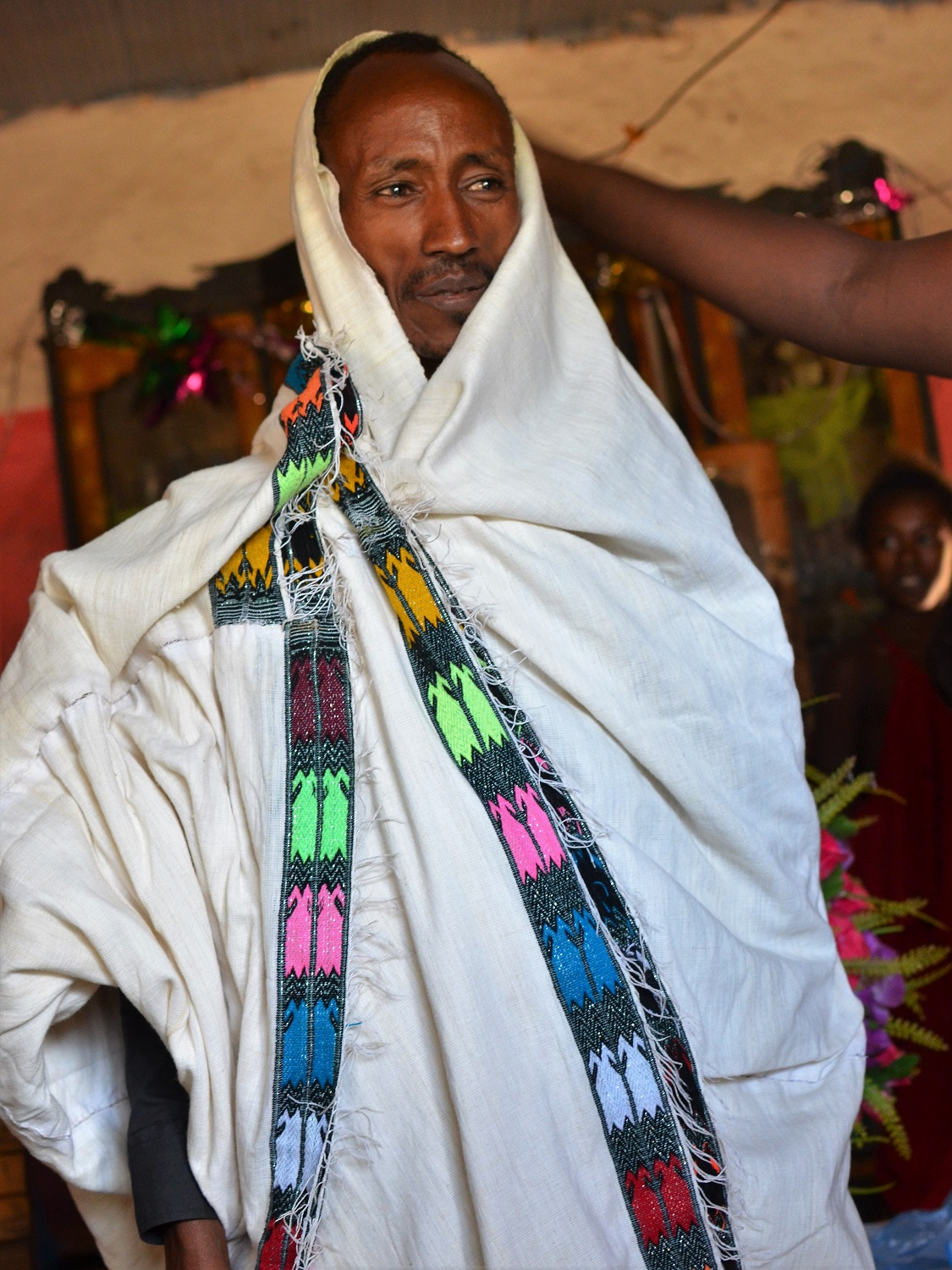 Cotton clothing, scarves and wraps are popular amongst Ethiopians