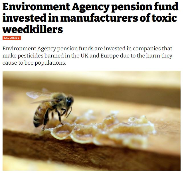iNews - Environment Agency pension fund invested in manufacturers of toxic weedkillers